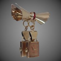 Retro Rose Gold Filled Crawford Lapel Watch