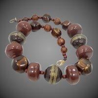 "Early Teresa Goodall 18"" Long Chunky Necklace"