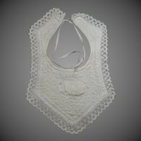 "Victorian ""Darling"" Lacy Baby or Doll Bib"