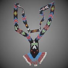 Glass Beaded Native American Thunderbird Necklace