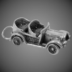 Solid Sterling Model A Convertible Car Charm Automobile