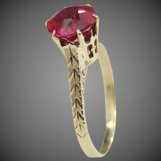 Ostby & Barton 10k Gold Victorian Ruby Ring Titanic
