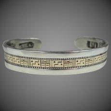Roderick Tenorio Sterling Silver & 14k Southwestern Cuff Bracelet Relios Storyteller Carolyn Pollack