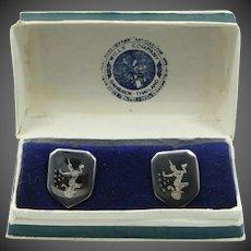 Willy Siam Sterling Cuff Links Mint in Box Cufflinks