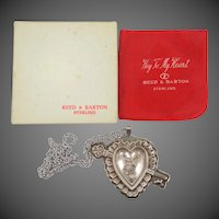 Sterling Reed & Barton Key to My Heart Necklace / Christmas Ornament MIB