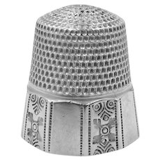Stern Bros. Sterling Silver Thimble