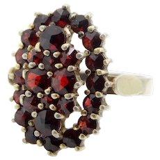 900S Bohemian Garnets Size 8 Ring