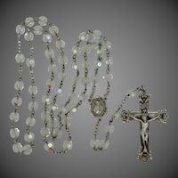 Sterling Silver Mid Century A/B Crystals Rosary