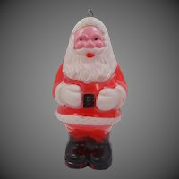 Celluloid Santa Light Up Ornament