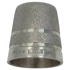 SJR England Solid Sterling Thimble