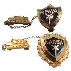10k Gold National Association Of Railway Business Women Pin
