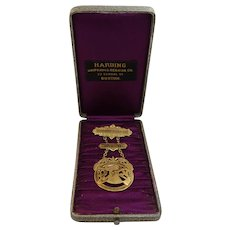 Antique Patrons of Husbandry Badge with Box