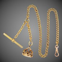 Victorian Gold Fld. Watch Chain & Fob