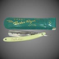 Double Arrow Barber Razor Straight Razor in Original Case