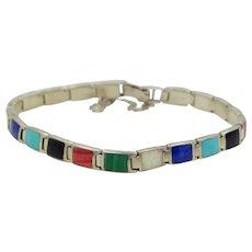 Hong Kong Sterling Gemstones Bracelet