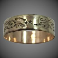 Victorian Gold Fld. Etched Stacking Band Ring