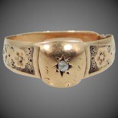$95 + Free Shipping   10k Gold Victorian Diamond Ring