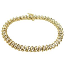 10k Gold 1 Carat Diamond Tennis Bracelet