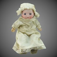 "Armand Marseille 7 1/2"" Our Pet Bisque Doll #341 With Crier"