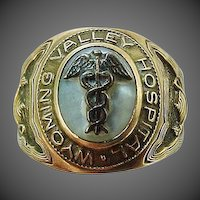 Vintage 10k Solid Gold Wyoming Valley Hospital Nursing Ring