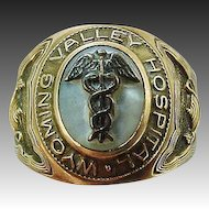Vintage 10k Solid Gold Wyoming Valley Hospital Nursing Ring