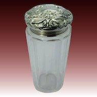 1905 H. Matthews Sterling Lid Dresser Jar With North Wind