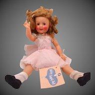 """12"""" Ideal Shirley Temple Doll 1958 Original Slip, Name Tag & Hang Tag"""