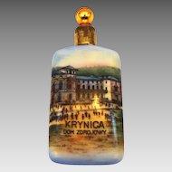 "Vintage Souvenir ""Krynica Dom Zdrojowy"" Hand Painted Perfume Scent Bottle"