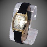 14k Gold 17J Bulova Man's Mid Century Watch
