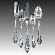 Alvin Vivaldi Sterling 5 Piece Place Setting BRAND NEW Mint in Package 1966