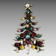 Hollycraft 4 Candle Christmas Tree Pin