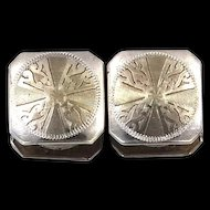 10k Gold Top Kum-a-Part Snap Cufflinks Art Deco Era