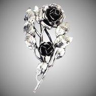 Danecraft Sterling Roses Brooch