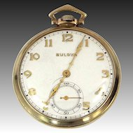 Bulova 1930's 15 Jewels Pocket Watch