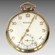 Bulova 1930's 15 Jewels Pocket Watch
