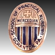 10k Gold Mercedian School of Practical Nursing Pin Scranton PA