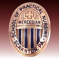 10k Gold Mercedian School of Practical Nursing Pin Scranton PA