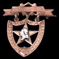 1920's 10k Gold Patriotic Orders Sons of America Badge