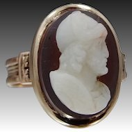 14k Rose Gold Victorian Stone Cameo Ring