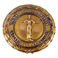 1937 10k Gold University of Pennsylvania Training School For Nurses Nursing Pin