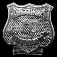 Unusual Early 1900's Pittston, PA Police Badge