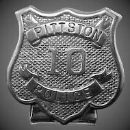 Unusual Early 1900's Pittston, PA Police Badge
