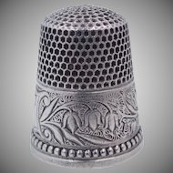 Rare Ketcham & McDougall Sterling Lily of the Valley Thimble