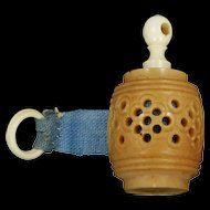 Victorian Carved & Pierced Vegetable Ivory Tape Measure