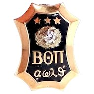 1939 10k Gold Beta Theta Pi Diamond Fraternity Pin