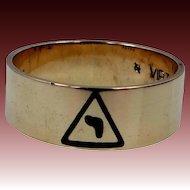"10k Gold 14th Degree Scottish Rite of Freemasonry Masonic Ring ""virtus junxit mors non separabit"""