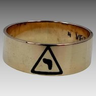 "10k Gold 14th Degree Scottish Rite of Freemasonry Masonic Ring ""virtus junxit mors non separabit"""