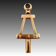 1929 14k Gold A. of Calif Fraternity Key