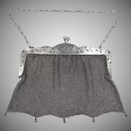 1911 Solid Sterling Silver Ladies Mesh Purse 5.4 ozt.
