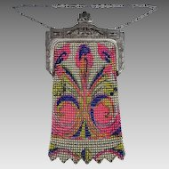 Whiting & Davis Beadlite Mesh Purse Bright & Colorful Nice Condition